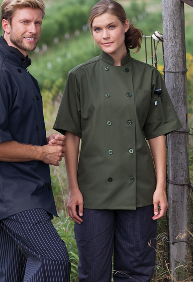 NEW COLORS! 415 Short Sleeve Chef Coat